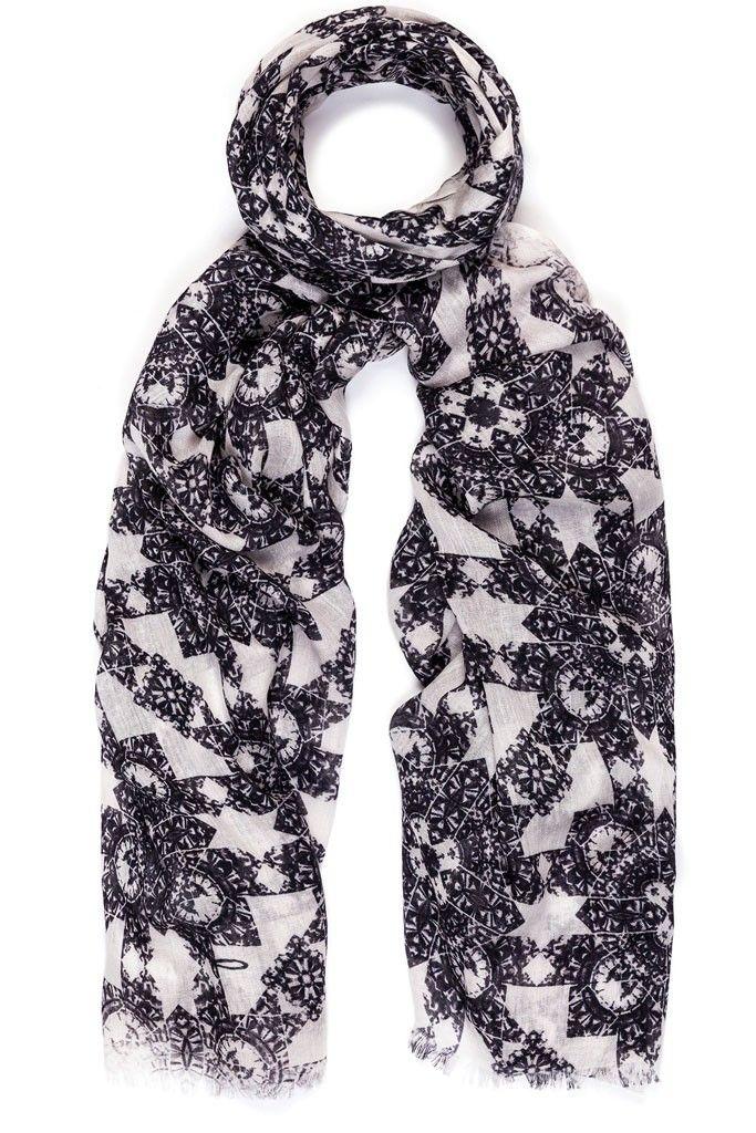 Talia Monochrome scarf