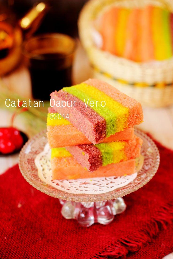 Catatan Dapur Vero: CAKE LAPIS KUKUS WARNA