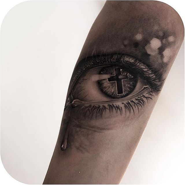 3653 best tattoos i like some stupid ones images on for Cross tattoo under eye