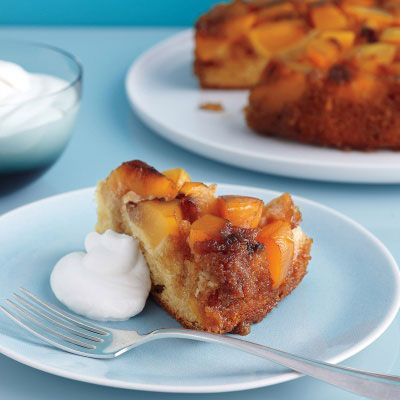 Nectarine Upside-Down Cake - a delicious use of summer fruit! #desserts