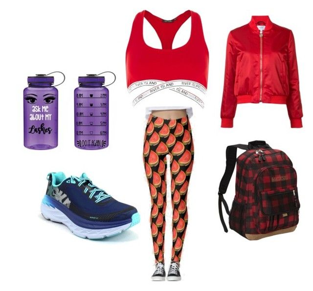 """""""13"""" by midnighthillzy on Polyvore featuring River Island, Hoka One One, Eastsport and Carven"""