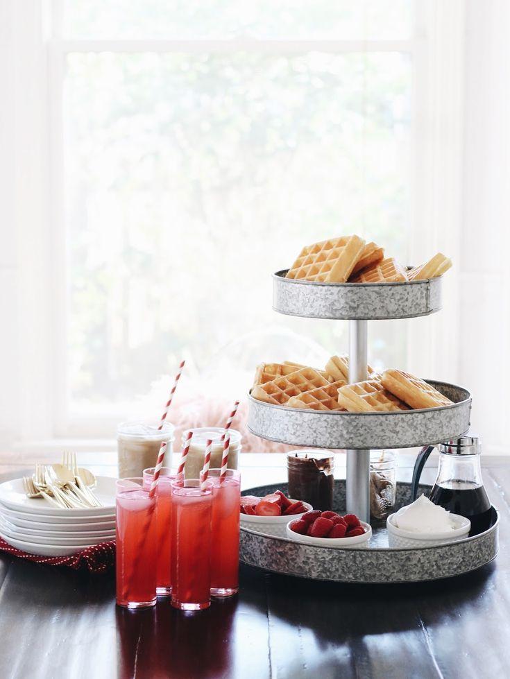 Valentine's Day Brunch // Waffle Bar + Grapefruit Mimosa Recipe