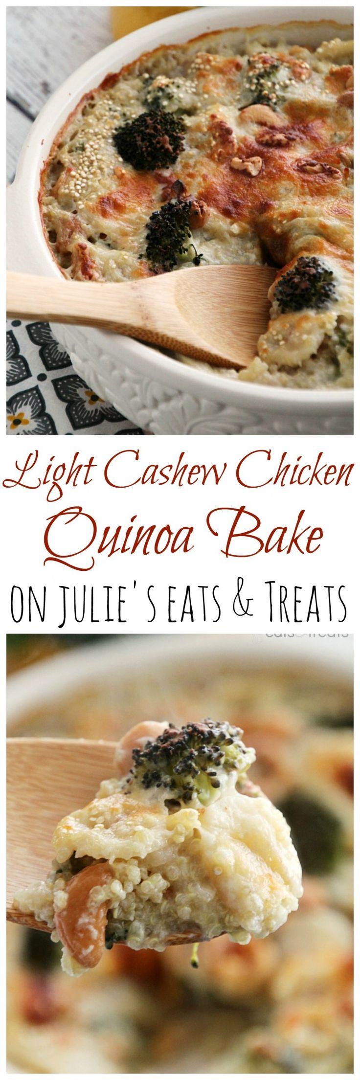 Light Cashew Chicken Quinoa Bake  Recipe  Broccoli -4370