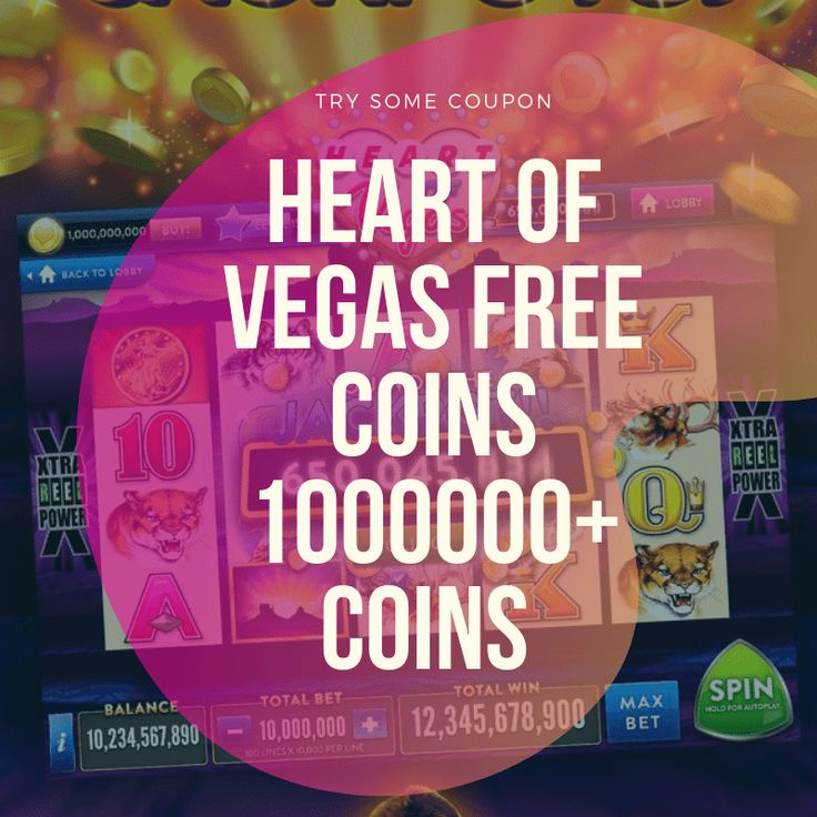 Heart of Vegas Free Coins 1 Million Chips in 2020 Heart