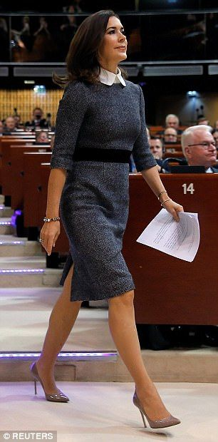 The effortlessly elegant royal donned one of her favourite Sixties-inspired dresses for th...