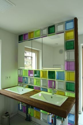 Die besten 25 glasbausteine ideen auf pinterest - Duschwand aus glasbausteinen ...
