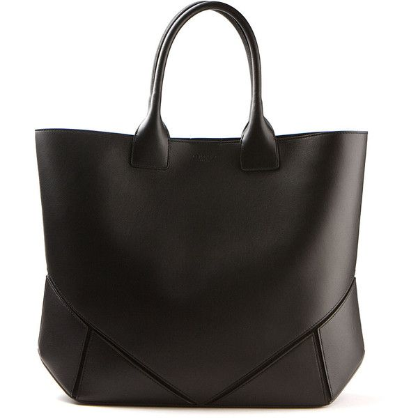 Givenchy black leather tote bag found on Polyvore