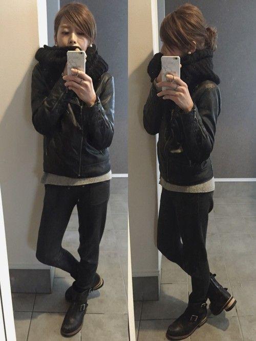 GUのライダースジャケットを使ったsayakaのコーディネートです。WEARはモデル・俳優・ショップスタッフなどの着こなしをチェックできるファッションコーディネートサイトです。