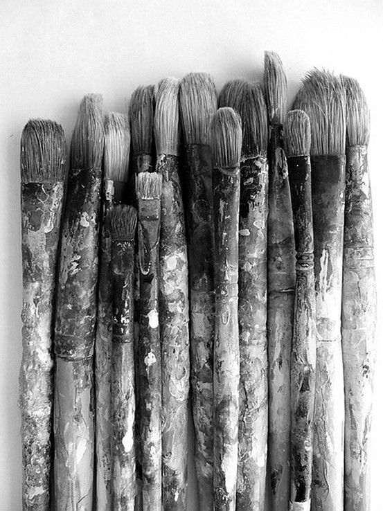 Black and white paint brushes | Picture perfect ...