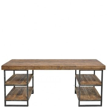 Bancada estilo retro longa móveis de madeira maciça mesas de ferro forjado ferro forjado de café país da américa