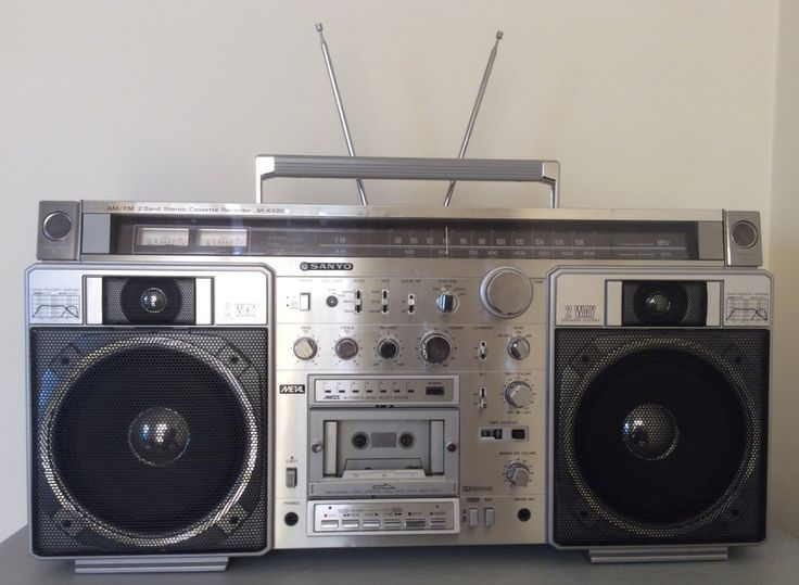 Vintage 1980's Sanyo Boombox MX-920k Ghettoblaster Portable Radio Cassette Deck Hip Hop