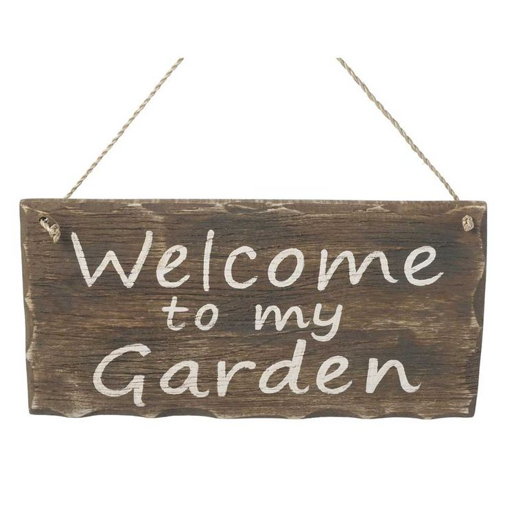 Parlane Welcome to My Garden Sign