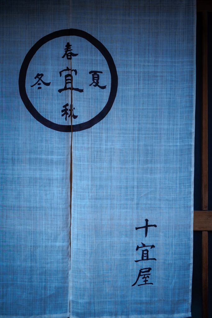 Noren at a Hotel in Kyoto, Japan: