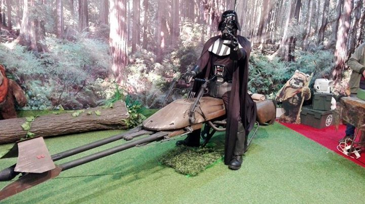Always good fun with #darthVader.   Star wars costume from Funidelia
