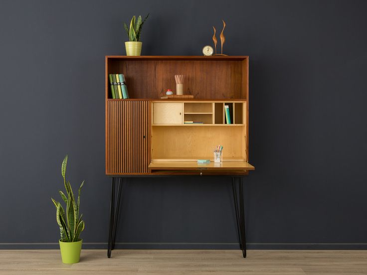 exklusiver sekret r teak 60er sideboard vintage von mid century. Black Bedroom Furniture Sets. Home Design Ideas
