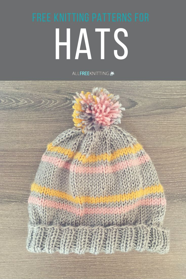 375 best DIY Hats - Crocheted, knitted, ... images on Pinterest ...