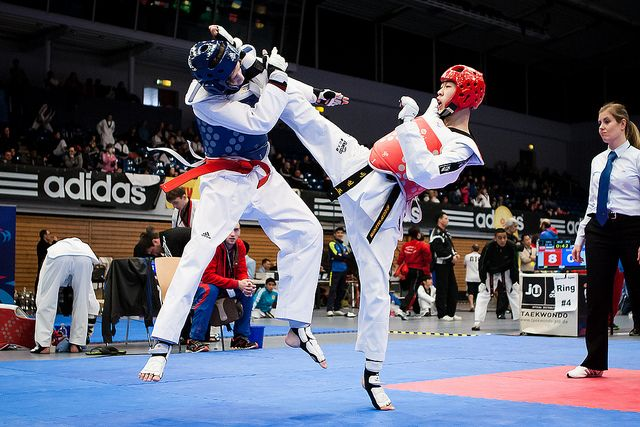 Taekwondo is a martial art originating in Korea. It combines combat and self-defense techniques with sport and exercise. In 1989, taekwondo was the world's most popular martial art. Gyeorugi, a type of sparring, has been an Olympic event since 2000.