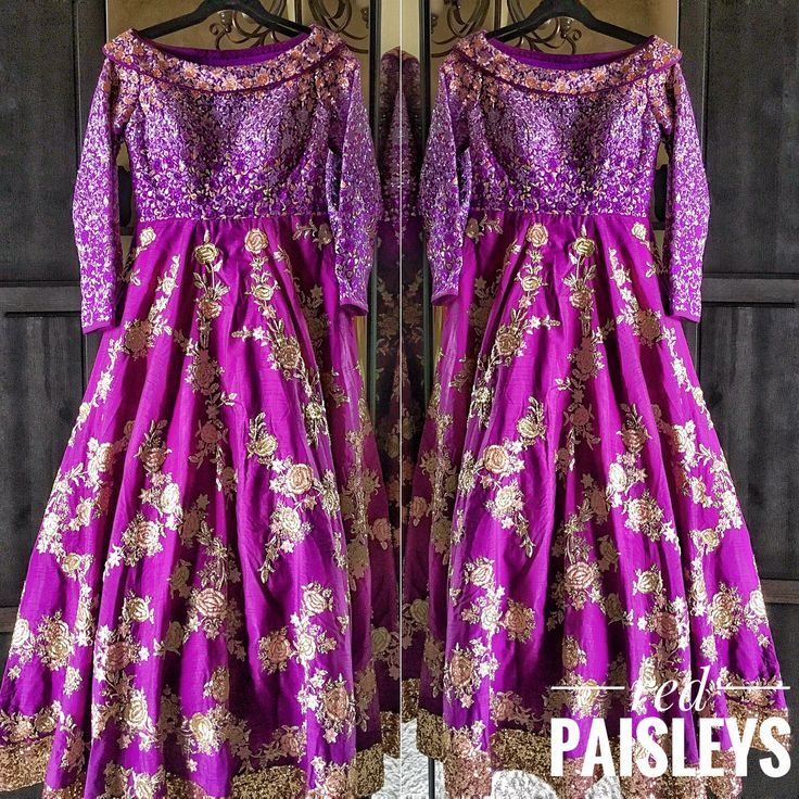 Purple gold anarkali gown. For more details  info@redpaisleys.com or 469.248.7733