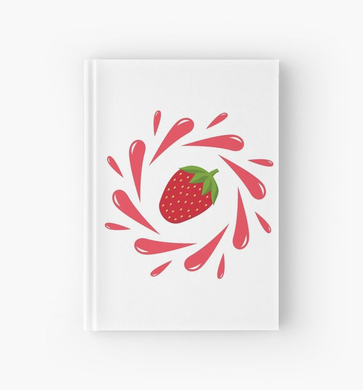 Strawberry splash by LunaPrincino  #lunaprincino #design #strawberry #berry #fruit #fresh #juicy #food #raw #vegan #red #splash #motion #graphic #drops #print #prints #redbubble #gift #idea #summer #vivid #stationery #hardcover #journal #notebook #graphics #cool #creative #office #style