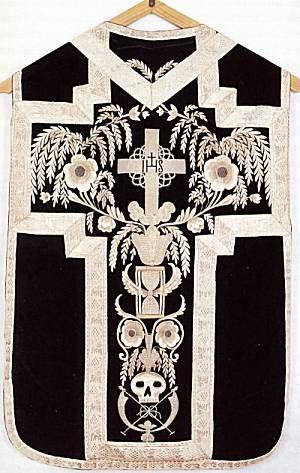 Black Roman Chasuble