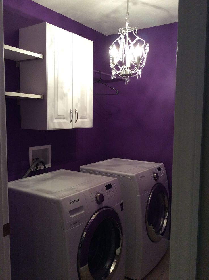 purple laundry room!