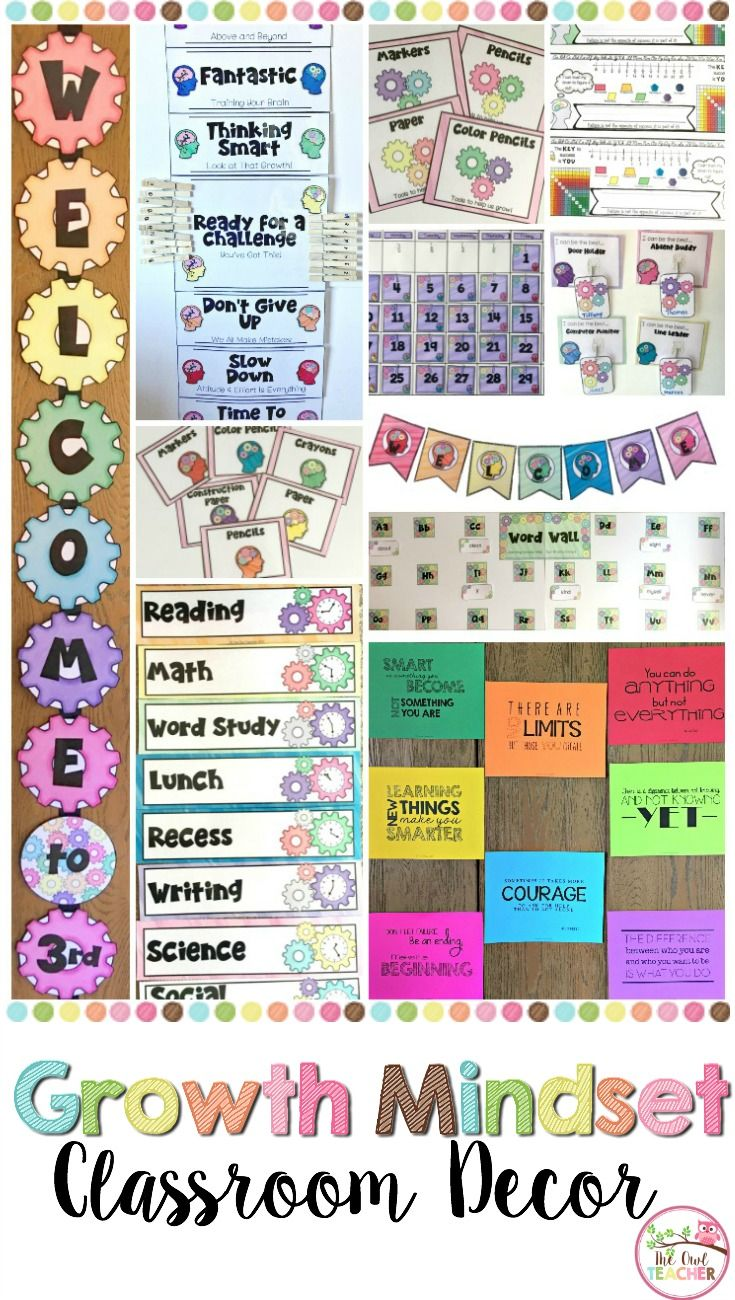Imagine each day in your classroom where your students are thinking with a growth mindset! It is possible with this growth mindset classroom decor BUNDLE set! It is complete with a behavior clip chart, a calendar and weather chart, job charts, desk plates, growth mindset posters, schedule cards, welcome signs, word wall materials, labels and so much more!  Plus, there is so much variety and it's editable! $