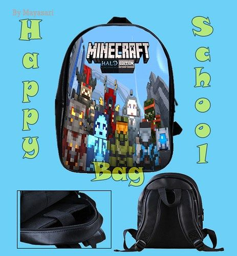 Custom School Bag - Minecraft Creeper Messenger Sword Bag This high-quality  school bag is the perfect accessory for school children. Made from high-grade PU leather. It is the perfect way for childre