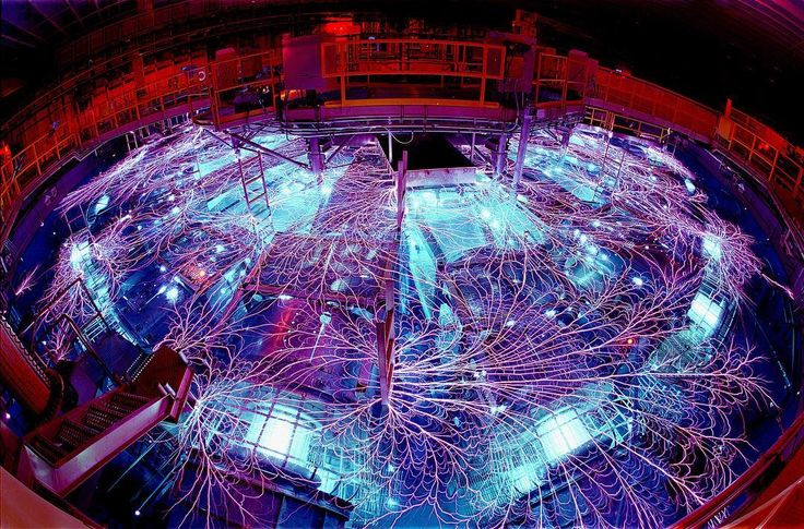 The Z machine Photo credit: Randy Montoya/Sandia National Laboratories.  The Z machine the largest X-ray generator in the world is located in Albuquerque New Mexico. As part of the Pulsed Power Program which started at Sandia National Laboratories in the 1960s the Z machine concentrates electrical energy and turns it into short pulses of enormous power which can then be used to generate X-rays and gamma rays.  #zmachine #science #xray #gammarays #nuclearfusion #laboratory #lab…