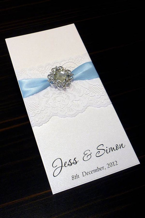 Baby Blue Vintage Lace Wedding by Simply Stunning Stationery on Etsy