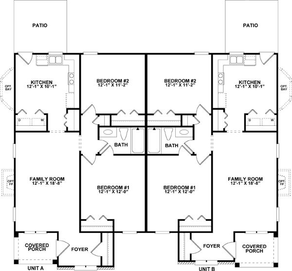 149 best images about multi family plans on pinterest for Multi family apartment floor plans