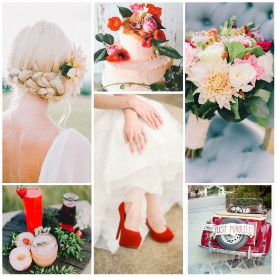 Peach & Berry Beautiful Wedding Inspiration http://www.poppedweddings.com.au/peach-berry-beautiful-wedding-inspiration-board/