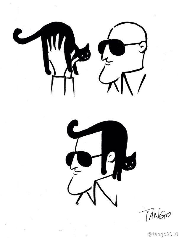 Simples mas inteligente! Animais em quadrinhos por Shanghai Tango