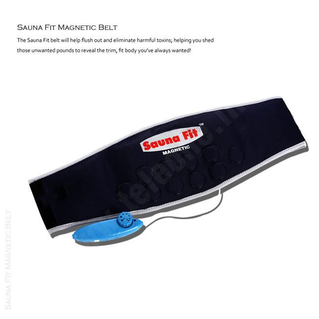 Sauna Fit Magnetic Belt - Just apply the Sauna Fit belt around the chosen body part(s) and let the belt do all the work! It's great for your abdomen, waist, back, hips and any other problem areas. #fat #tummy #saunabelt #obesity #loosefat