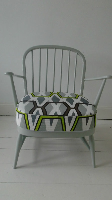 Ercol Retro Chair Mid Century refurbished Vintage Designers Guild