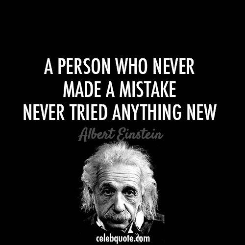 Citation Albert Einstein (A propos de rame Succès Erreur Défis de Défaillance de la Vie)