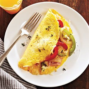 Just made this in about 10 minutes minus the ham and cheese, instead of green bell pepper i added tomatoes, it was delicious!! |Healthy Omelet Recipes | Western Omelet | CookingLight.com