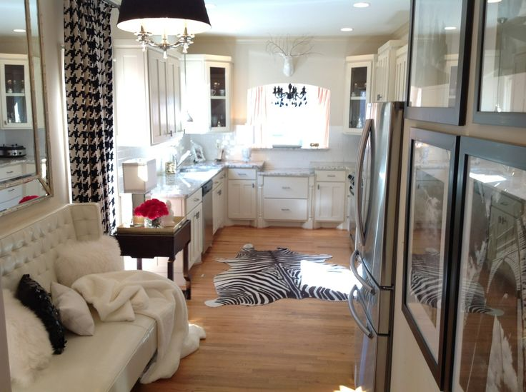 My black and white glam chic modern kitchen | Hauteriors, LLC (aka ...