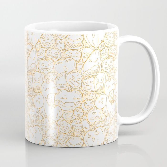 Pumpkin Halloween line pattern Mug by StrijkDesign | Society6