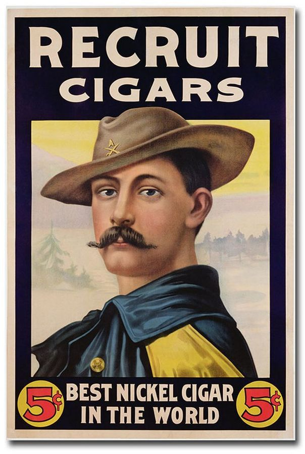 ''Recruit Cigars, 1899'' 16'' x 24'' Canvas Art https://api.shopstyle.com/action/apiVisitRetailer?id=406426438&pid=uid8100-34415590-43