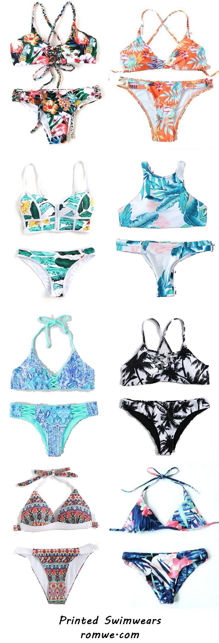 Vintage Printed Swimwears from romwe.com