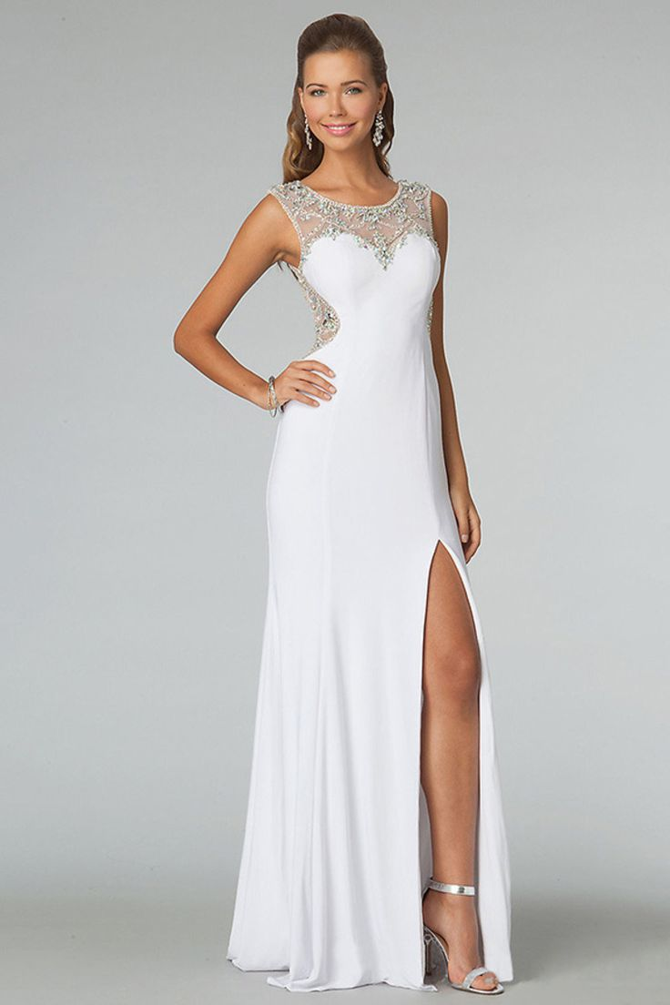 20 best Stunning White Evening Dresses images on Pinterest | White ...
