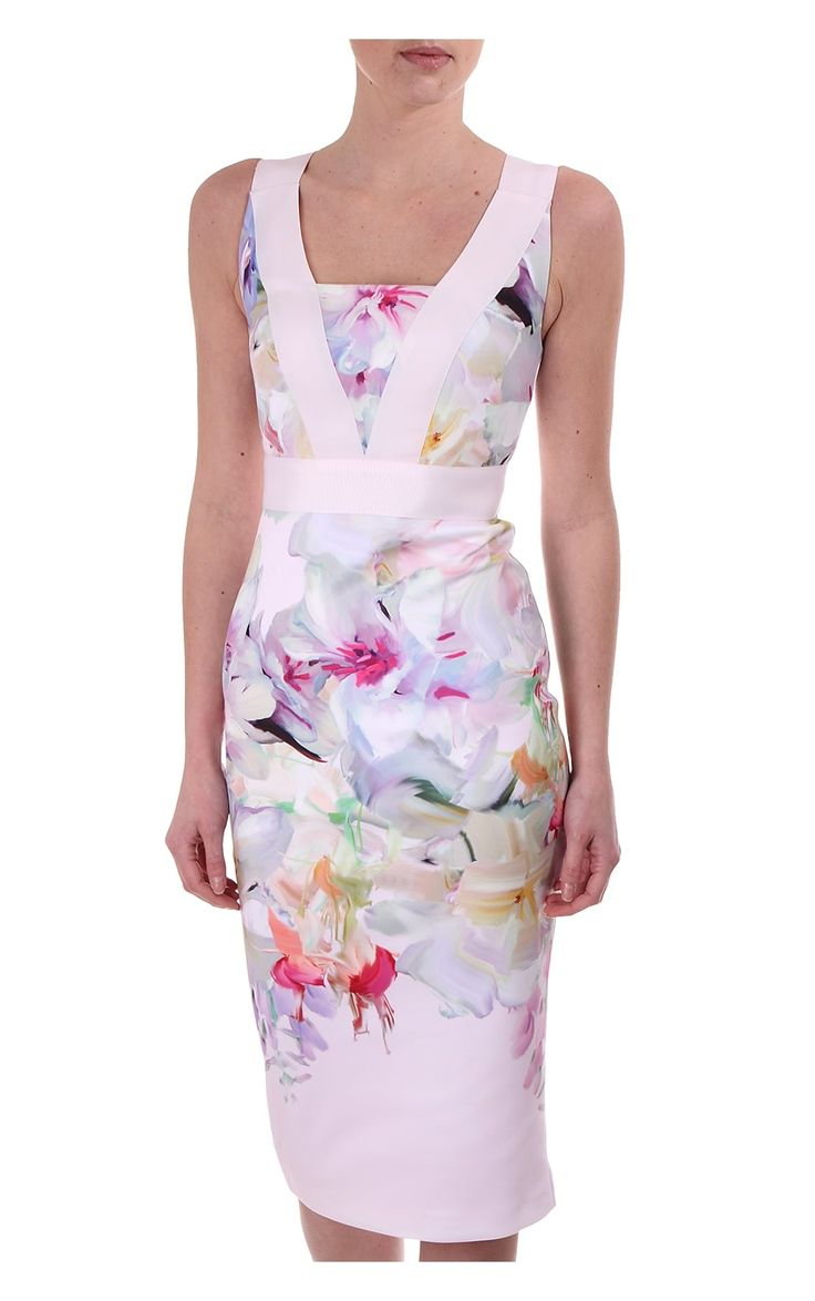 Ted Baker Womens Arienne Dress In Hanging Gardens Print Pale Pink