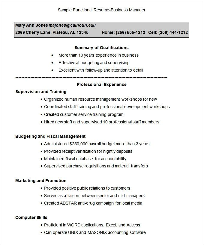 great functional resume template free ideas di 2020