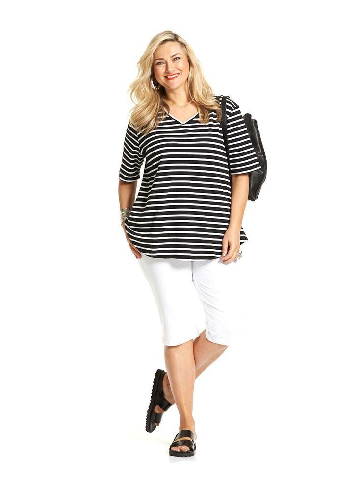 Holiday Striped Tee