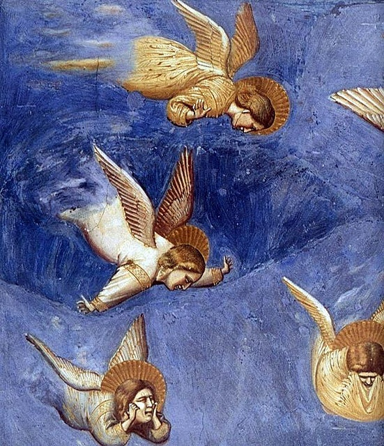 GIOTTO di Bondone No. 36 Scenes from the Life of Christ- 20. Lamentation ((detail) 1304-06 Fresco, 200 x 185 cm Cappella Scrovegni (Arena Chapel), Padua by renzodionigi, via Flickr