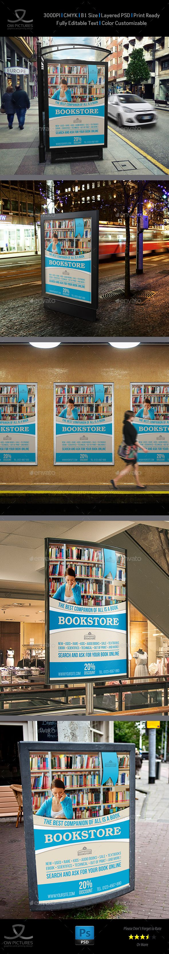 Bookstore Poster Template by OWPictures Poster Description: Bookstore Poster Tem...