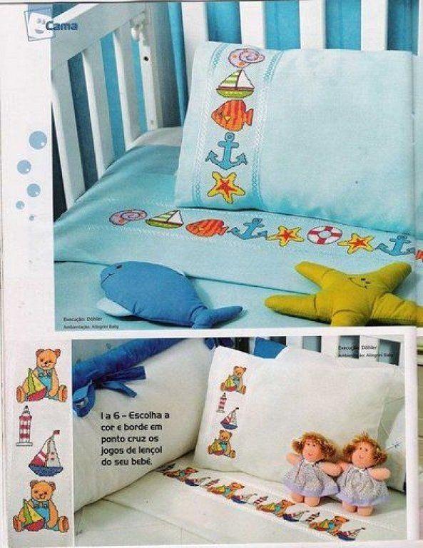 Punto de cruz sabanitas para bebe buscar con google punto de cruz bebes infantiles - Sabanas para bebes ...