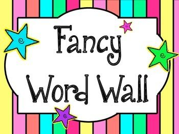 Fancy Word Wall - Synonyms for common words!