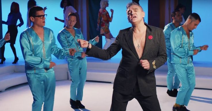 Watch Morrissey's Cheeky Take on 'American Bandstand' in New Music Video #headphones #music #headphones