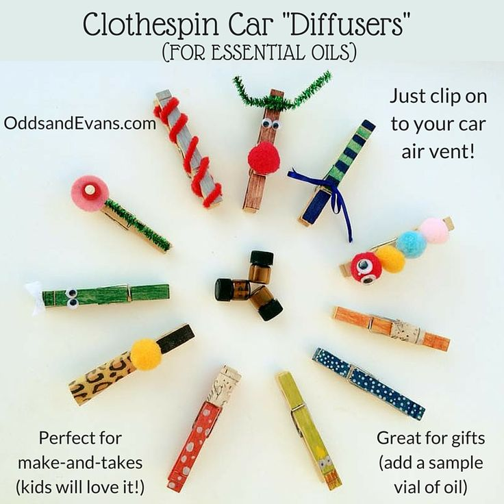Make a clothespin diffuser to easily enjoy essential oils on the go! This kid-friendly craft makes great gifts or make-and-take class. Share your oils!